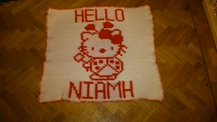 Hello Kitty blanket for Niamh (dochol) Tags: chart cute wool handmade hellokitty name crochet kitty craft graph yarn blanket afghan alphabet manta personalised croche crochethooks