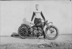 Abe Christopherson, Indian Motorcycle (hondagl1800) Tags: blackandwhite monochrome bike motorcycle vehicle hillclimb vintagemotorcycle indianmotorcycle abechristopherson
