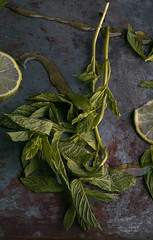 Mint (Elvinion) Tags: mint lemon honey tea food moody dark