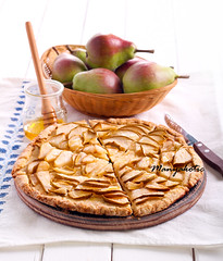 Pear and honey cake (manyakotic) Tags: apple breakfast brunch cake crostata dessert food fruit galette healthy homemade honey pastry pear pie rustic slices snack sweet syrup treat