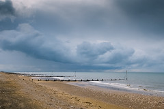 Hunstanton Beach / Fujifilm X 20 (ho_hokus) Tags: 2016 england fujix20 fujifilmx20 hunstanton norfolk uk beach clouds sky landscape seascape resort seaside cloud shore shoreline coast weather groynes sand