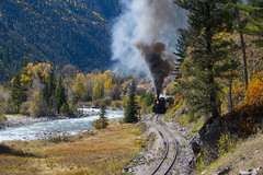 Steam in the Woods (joemcmillan118) Tags: needleton colorado photocharter dsng durangosilverton animasriver 473 steamlocomotive k28