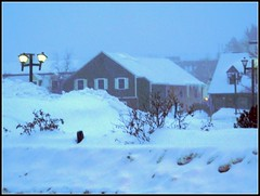 Snow Storm At Dusk On February 14, 2015 - Editing Was Done On October 20, 2016 - Photography And Editing by STEVEN CHATEAUNEUF (snc145) Tags: winter seasons dusk buildings snowbank snowstorm lanterns bushes sky snow landscape scenery archetecture foggy photo editedimage coldweather chelmsford massachusetts usa february142015 october202016 stevenchateauneuf autofocus flickrunitedaward