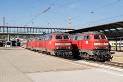 218 495-0 218 443-0 DB Regio Ulm Hbf 12.09.16 (Paul David Smith (Widnes Road)) Tags: 218495 218443 ulmhbf ulm dbregio dbfernverkehr 218 2184 dbbr218 br218 baureihe218