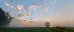 Sunrise delayed (virgil martin) Tags: landscape panorama fog clouds fields wellingtoncounty ontario canada olympusomdem5 oloneo microsoftice gimp
