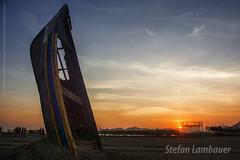 Por do Sol em Santos (Stefan Lambauer) Tags: gonzaga sunset praia beach boat barco arte stefanlambauer 2016 brasil brazil santos br maurícioadinolfi praiadogonzaga
