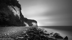 Kreidefelsen Rgen (ck1berlin) Tags: nationalparkjasmund kreidefelsen blackwhite ostsee langzeitbelichtung rgen rgen
