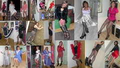 Collage 2010 (janegeetgirl2) Tags: transvestite crossdresser crossdressing tgirl tv ts stockings heels garters nylons glamour petticoat white red satin dress halter neck stilettos fully fashioned high vintage seams collage black contrast suspenders jane gee2010
