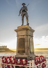 War memorial (PhotographNI - David Milligan) Tags: portstewart seascape londonderry sunset warmemorial soldier poppy wreaths