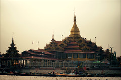One of many temples (*Kicki*) Tags: temple myanmar burma inlelake inle inlaylake inlay shanstate boats canal architecture building pagoda