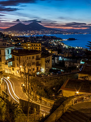 Naples is a thousand colors (LuxTDG) Tags: pino daniele barche boats napoli naples scalinate stairways scale stairs saliscendi latch mergellina caracciolo vesuvio vesuvius partenope panorama landscape seascape ora blu dorata golden blue hour alba sunrise scie luminose light trails citt city cityscape luci lights casteldellovo egg castle santelmo san martino freddo cold cielo sky vento wind golfo bay gulf campania mare sea inverno winter pine luna moon hdr street art italy italia