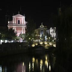 (Karsten Fatur) Tags: landscape city night dark river reflection lights church ljubljana slovenija slovenia travel europe explore adventure ljubljanica longexposure cityscape