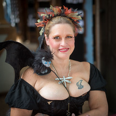 The Dolphin (Ron Scubadiver's Wild Life) Tags: girl woman renfest nikon 50mm texas renaissance festival costume cosplay outdoors tattoos