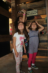 The girls in the hurricane 2 (Aggiewelshes) Tags: october 2016 lehi utah travel museumofnaturalcuriosity thanksgivingpoint waterworks jovie vivian