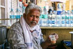 Portrait of Chaiwala, Jaisalmer, India (travelingmipo) Tags: travel photo india asia     rajasthan   goldencity  jaisalmer  people street chaiwala chai chay   teashop teahouse portrait face