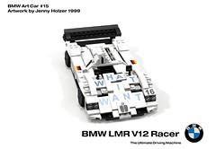 BMW LMR V12 Racer - Art Car #15 - Jenny Holzer (1999) (lego911) Tags: 1999 1990s bmw lmr v12 racer le mans art car jenny holzer auto moc model miniland lego lego911 ldd render cad povray german germany lugnuts challenge 108 9th birthday 90 lugnutsturnsnine turn nine foolsrushin artcar2015 foitsop