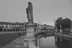 prato della valle (conteluigi66) Tags: luigiconte pratodellavalle padova biancoenero monocromo monocrome black white statua statue canale piazza acqua alnero alberi
