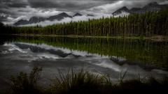 Herbert Lake (drhmphotography) Tags: mountains landscapes lake reflections clouds trees summer canada alberta beautiful