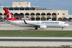 TC-JVY LMML 12-11-2016 (Burmarrad) Tags: airline turkish airlines aircraft boeing 7378f2 registration tcjvy cn 60024 lmml 12112016