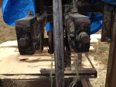 IMG_1295 (Inha Leex Hale) Tags: sawmill taschmid bandsaw bandsawmill shaft repair bearing vbelt wheel keyway maine