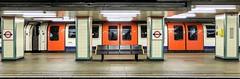 The Extra Mile (Douguerreotype) Tags: london uk urban train bench city tunnel tube subway gb metro underground england