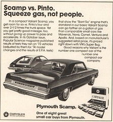 1974 Plymouth Scamp with Ford Pinto Advertisement Motor Trend April 1974 (SenseiAlan) Tags: 1974 plymouth scamp with ford pinto advertisement motor trend april