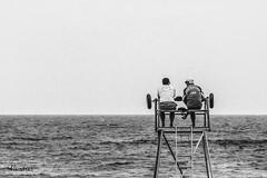 SSTI-082013_462R-BYN_FLK (Valentin Andres) Tags: bw biarritz blackwhite blancoynegro byn france francia playa baywatch vigilantes