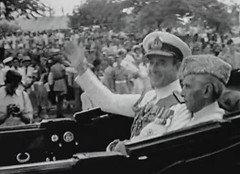 Mountbatten and Jinnah enroute to Government House after the ceremonies (Doc Kazi) Tags: pakistan india independence negotiations ceremonies jinnah gandhi nehru mountbatten viceroy wavell stafford cripps edwina fatima muhammad ali