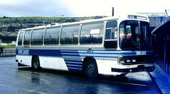 Slide 083-02 (Steve Guess) Tags: burnley colne nelson pendle bus buses lancs lancashire england gb uk ribble leyland leopard timesaver x43 duple