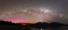 Manapouri Panorami (danhan27) Tags: astro astrophotography astroscape astronomy aurora australis southern lights milky way stars star night sky dark light glow beams reflections lake manapouri fjordland new zealand nz nikon d750 tamron 1530 ngc