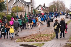 20161111_0059_1 (Bruce McPherson) Tags: brucemcphersonphotography remembranceday southmemorialpark southmemorialparkcenotaph cenotaph vancouverpolice vpd cadets marchpast march marching autumn fall fallleaves memorial vancouver bc canada