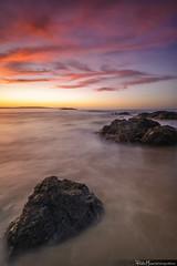 Color Lines (Pablo Mauriz Photography) Tags: largaexposicion longexposure playa beach atardecer sunset roca rocks nubes clouds mar sea seascape valdoviño galicia