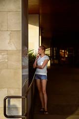 Reflecting on a Habit (briantolin) Tags: santamonica california losangeles smoking woman girl