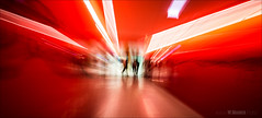 Escape from the red (W.MAURER foto) Tags: rot red korridor gang surreal blur motionblur unschrfe nikond800 zoom effekt experimental