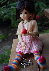 Jacks before Dark (Emily1957) Tags: tertia bjd resin jacks dolls doll toys toy gingham stripes nikond40 nikon kitlens light naturallight dusk metal childhood