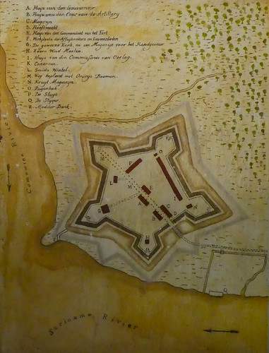 Plan of Fort Nieuw Amsterdam in Suriname