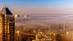 Happy Thanksgiving Chicago, EXPLORED 11/26/16 (jnhPhoto) Tags: jnhphoto chicago fog clouds view fujifilmxt1