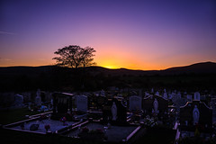 (Ails N hgeartaigh) Tags: sunset sunny sun mountains mountain trees tree outdoor outside earth world wicklow ireland europe cemetery graveyard christian christianity landscape land 2016 sony sonya7 a7 sky skies zeiss za