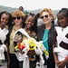 Ms. Gillian Mellsop, UNICEF Representative to Ethiopia poses to take a picture with local girls at the inauguration of the UNICEF/DIFID supported community emergency water supply scheme at Woiru Dikala Kebele, Raya Kobo woreda, Amhara region.