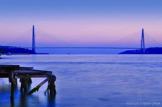 Sunset Yavuz Selim Bridge Istanbul