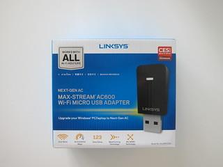 Linksys WUSB6100M Max-Stream AC600 MU-MIMO USB Adapter