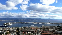Time lapse | Messina, Sicily, It (fabioscrima) Tags: timelapse sea ship city sicily italia italy sky clouds dynamic skyline