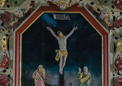 Detail of altarpiece in the Viken church (frankmh) Tags: painting art altarpiece viken höganäs skåne sweden indoor