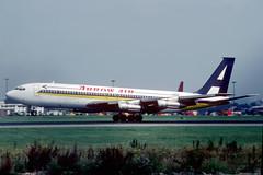 N707JJ Boeing 707-324C Arrow Air (pslg05896) Tags: n707jj boeing707 arrowair lgw egkk london gatwick