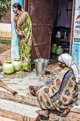 School Helpers (gecko47) Tags: women helpers school schoollunch higherprimaryschool krishnarajpet karnataka food healthymeal kitchen sarees cooking