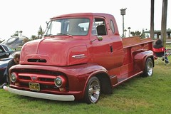 Road Kings Car Show 2016 (USautos98) Tags: 1953 ford c600 coe cabover truck hotrod streetrod custom