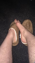 More of my friend and his #Slippers   #guy #man #feet #bare #nosocks #sockless #fetish #gay  #barefoot (FootboiMax) Tags: fetish sockless gay nosocks guy feet barefoot man bare slippers