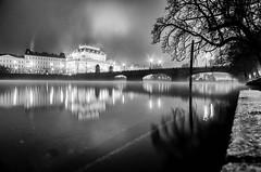 IMGP2061-Edit-1 (Jan Eric Elger) Tags: fog prague praha prag pentax trix kodaktrix bw baw bnw blackandwhite blackwhite atumn winter cold freezing cityscape landscape river