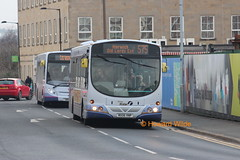 Oh no, it's Howard... (SelmerOrSelnec) Tags: bus volvo bolton wright firstmanchester b7rle mx06vnp permissiontophotographnotgranted rivvyrider