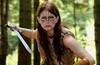 Rowena (threejumps) Tags: woman beautiful beauty wales pretty sword warrior celtic welsh celticwarrior woad woadwarrior